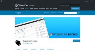 Organize Series