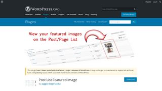 Post List Featured Image